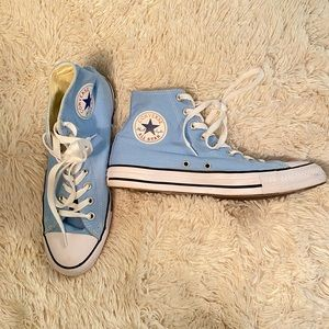 Blue High Top Converse
